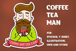 Coffee tea man