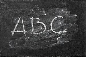 ABC Chalkboard texture