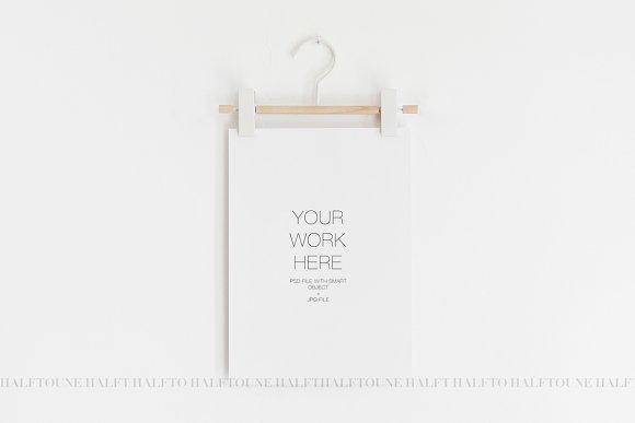 Poster Mockup Print Hanger Mockup