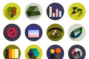 Flat geometric infographics