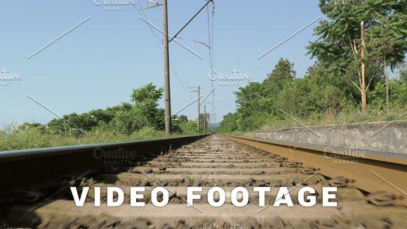 Railway In Hot Summer Georgia