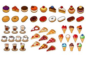 47 Food Icons Set