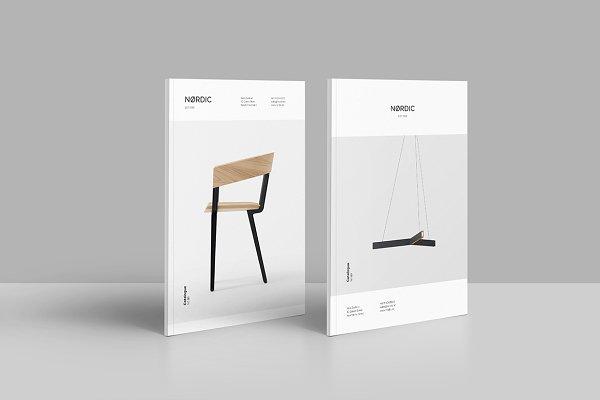 Brochure Templates: Jorge Lima - Nordic - Portrait Catalog Template