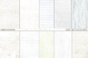 Almost White Digital Paper