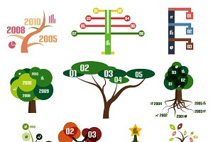 Tree infographic templates