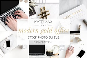 Modern Gold Office Stock Bundle