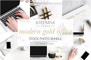 Modern Gold Office Stock Bundle