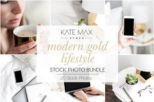 Modern Gold Lifestyle Stock Bundle