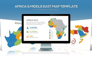 Africa & Middle East Maps Powerpoint