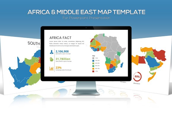 Africa Middle East Maps Powerpoint