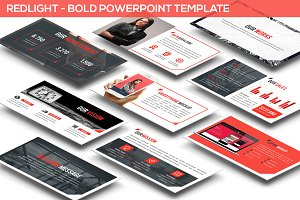 Redlight - Bold Powerpoint Template