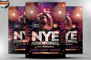 NYE Fireworks & Celebrations Flyer