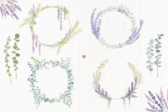 Lavender Farm Graphic Set - Clip Art in Illustrations - product preview 3