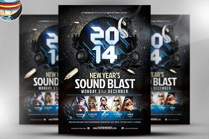 New Year's Sound Blast Flyer
