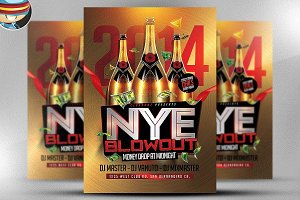 NYE Blowout Flyer Template
