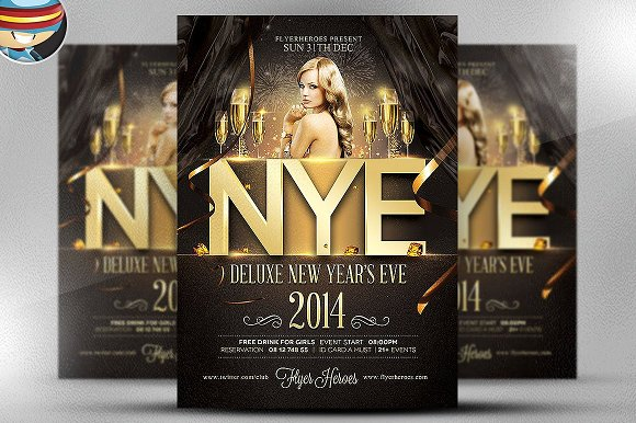 Deluxe NYE Flyer Template