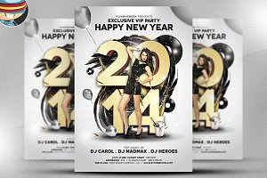 Exclusive NYE Party Flyer Template