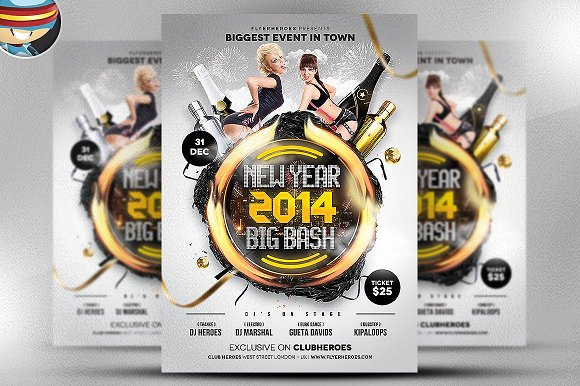 New Year Big Bash Flyer