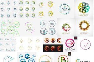 Abstract business logos collection