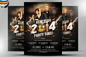 NYE Party Time Flyer Template