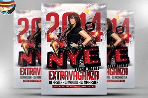NYE Extravaganza Flyer Template