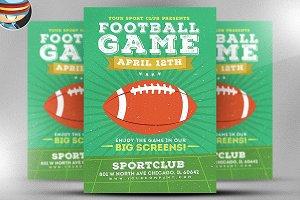 Illustrated American Football Flyer