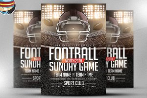 Football Sundays Flyer Template 3