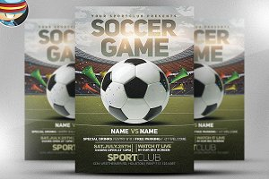 Soccer Game Flyer Template 2