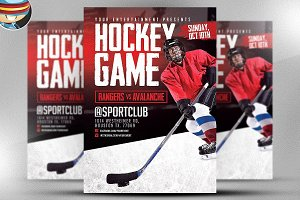 Hockey Game Flyer Template
