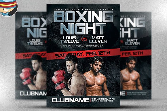 Boxing Flyer Template Flyer Templates Creative Market