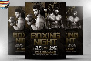 Boxing Night Flyer Template 3