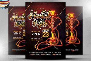 Hookah Nights Flyer Template 2