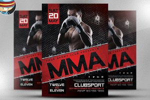 MMA Flyer Template 2