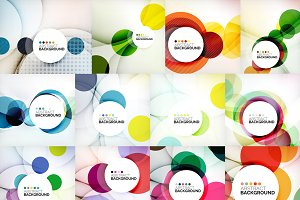 Colorful geometrical backgrounds