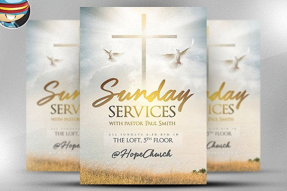 Sunday Services Flyer Template 2