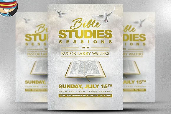 Bible Study Flyer Template 2