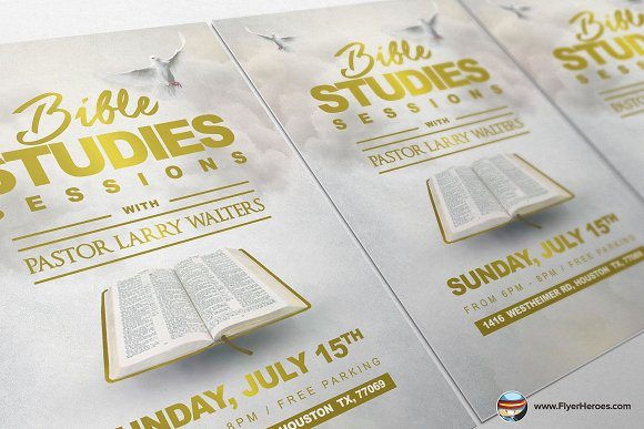 Bible Study Flyer Template 2 - Creative Daddy