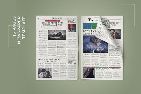 newspaper template magazine templates creative market