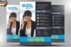 Printing Services Flyer Template v3