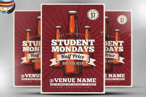 Student Offer Flyer Template Flyer Templates Creative Market