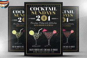 Cocktail Sundays Flyer Template