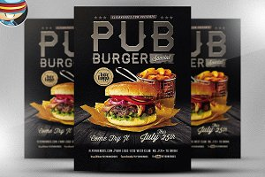 Pub Burger Flyer Templates