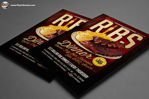 Ribs Dinner Flyer Template