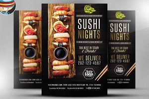 Sushi Nights Flyer Template