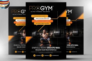 PRO Gym Fitness Flyer Template