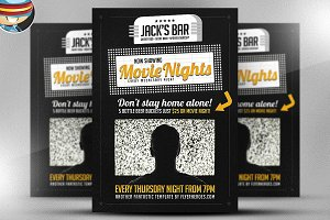 Movie Nights Flyer Template v2