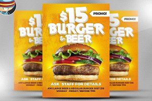 Burger and Beer Flyer Template