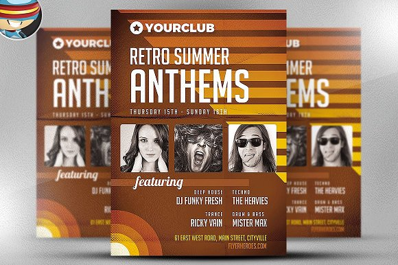 Retro Anthems Flyer Template