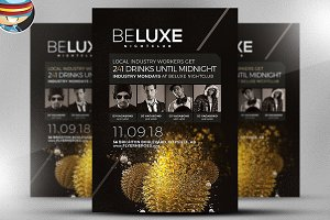 BeLuxe Club Flyer Template