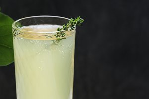 Italian beverage limoncello